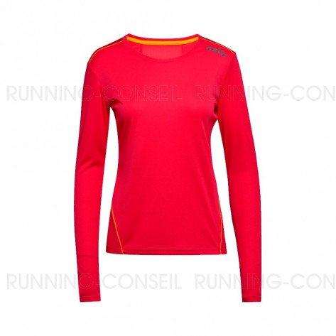 DIADORA T-SHIRT MANCHES LONGUES L. X-RUN FEMME | RED VIRTUAL PINK | Collection Printemps-Été 2019