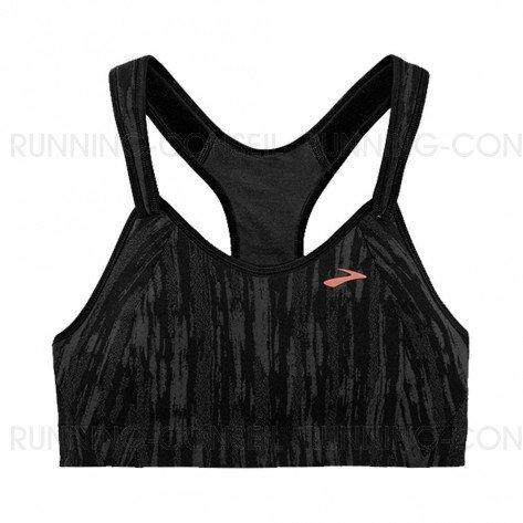 BROOKS Brassière Rebound Racer Femme | Black / Corail