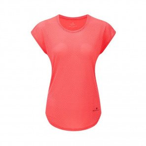 RONHILL Tee-Shirt manches courtes DELUXE MOMENTUM Femme   Hot Pink/Charcoal   Collection Printemps-Été 2019